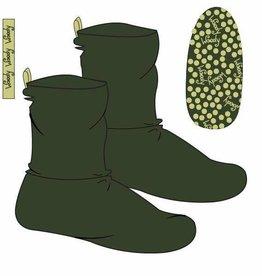 Woody Unisex pantoffels, donkergroen