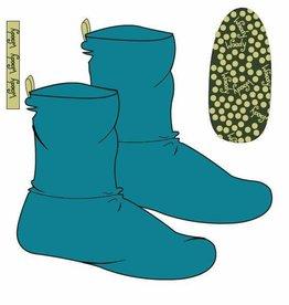 Woody Unisex pantoffels, turquoise