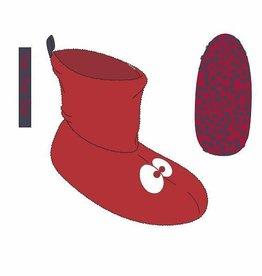Woody Unisex pantoffels, rood
