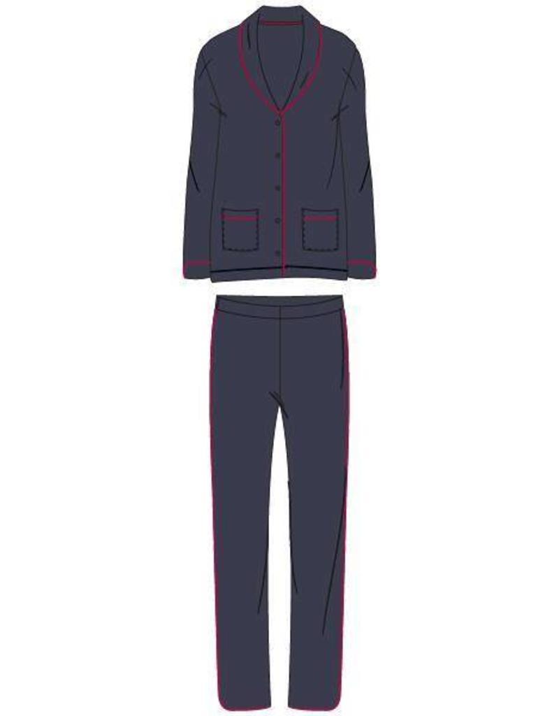 Woody Dames pyjama, donkergrijs
