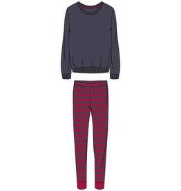 Woody Meisjes-Dames sweater en broek, donkergrijs