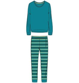 Woody Dames pyjama, turquoise