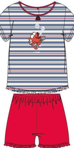 Woody Meisjes pyjama, multicolor Koi gestreept