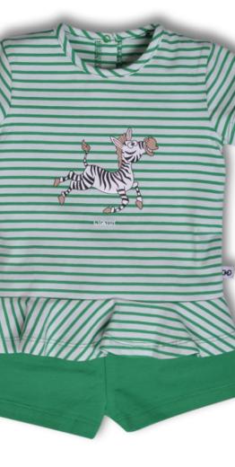 Woody Meisjes-Dames pyjama, groen gestreept