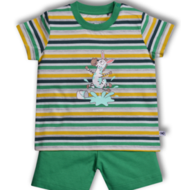 Woody Jongens pyjama, multicolor Zebra gestreept