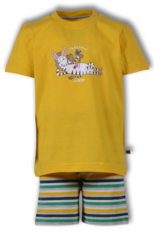 Woody Jongens-Heren pyjama, geel