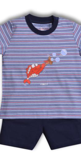 Woody Jongens pyjama, multicolor Koi gestreept