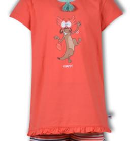 Woody Meisjes-Dames pyjama, koraal roze