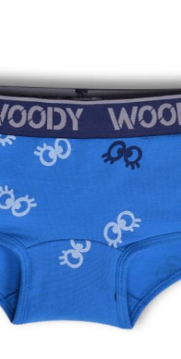 Woody Meisjes short, oogjes blauw all-over print