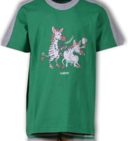 Woody Jongens-Heren pyjama, groen
