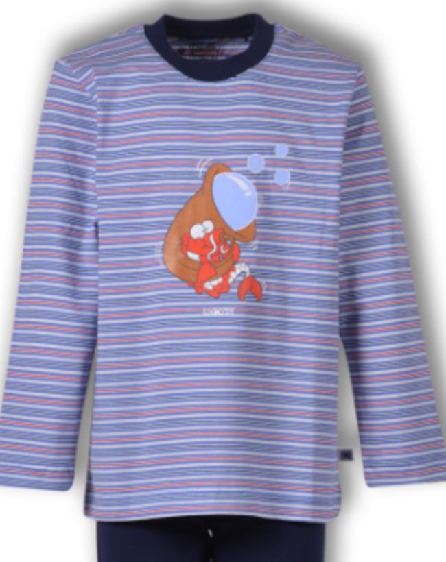 Woody Jongens-Heren pyjama, multicolor Koi gestreept