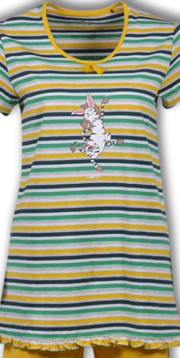 Woody Meisjes-Dames pyjama, multicolor Zebra gestreept