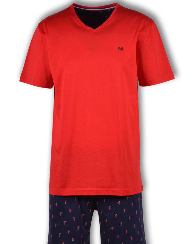 Woody Heren pyjama, fel rood