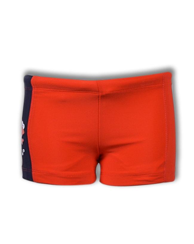 Woody Jongens-Heren zwembroek, fel rood