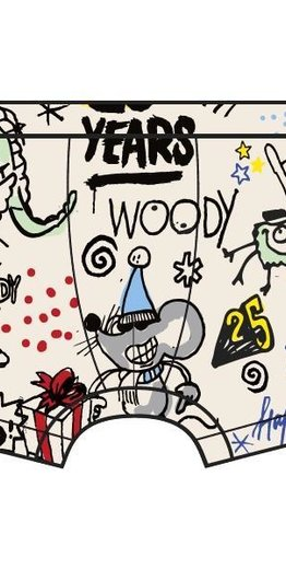 Woody Jongens short, wit # WOODY 25 all-over print