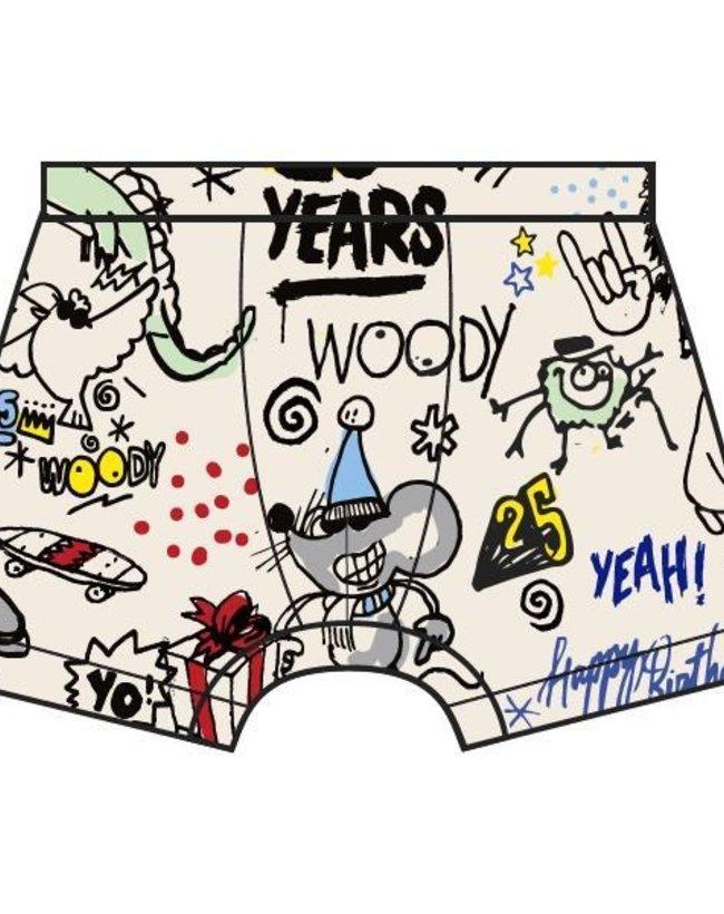Woody Jongens short, wit # WOODY 25 all-over print