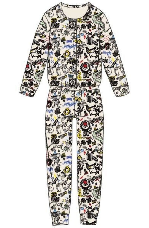 Woody Dames onesie, wit # WOODY 25 all-over print