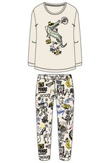 Woody Meisjes-Dames pyjama, gebroken wit
