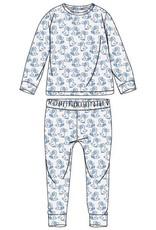 Woody Unisex pyjama, wit dodo all-over print