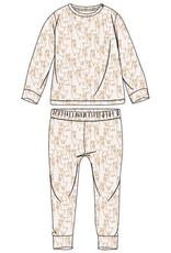 Woody Unisex pyjama, wit alpaca all-over print