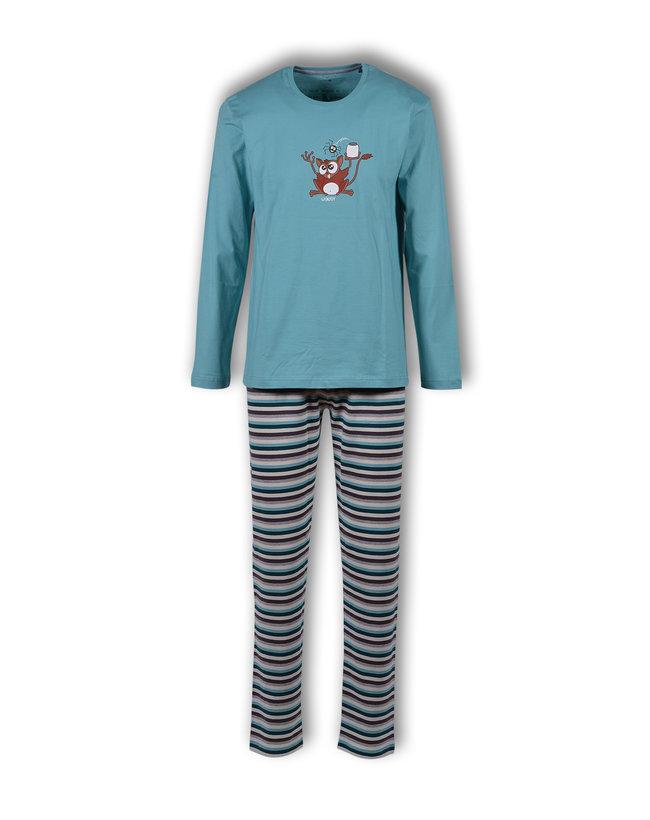 Woody Jongens-Heren pyjama, ijsblauw
