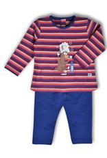 Woody Meisjes pyjama, rood-blauw gestreept