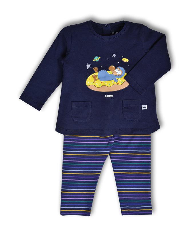 Woody Meisjes pyjama, donkerblauw