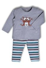 Woody Meisjes pyjama, grijs melange