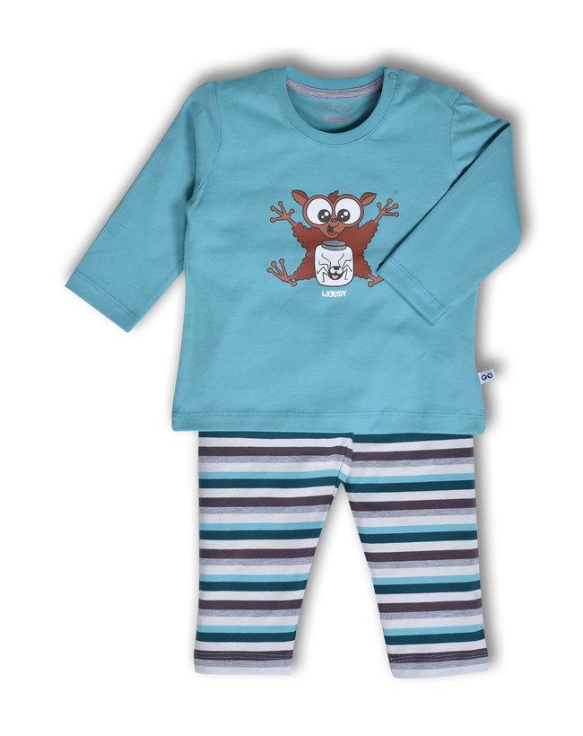 Woody Jongens pyjama, ijsblauw