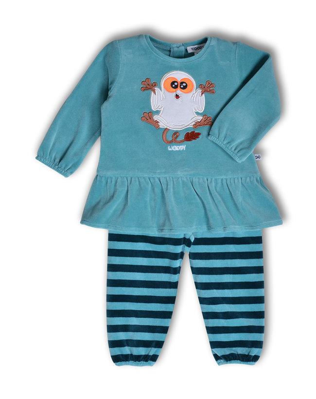 Woody Meisjes pyjama, ijsblauw