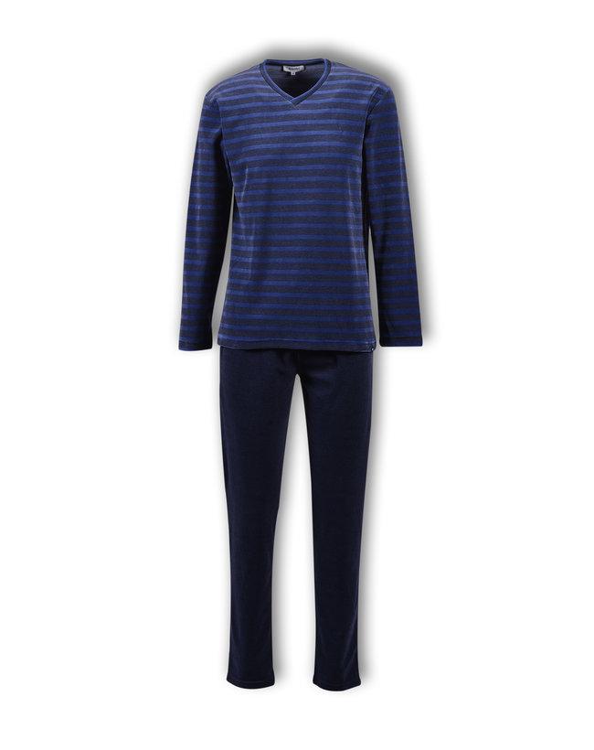 Woody Jongens-Heren pyjama, blauw gestreept