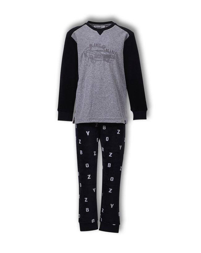 Woody Jongens-Heren pyjama, antraciet