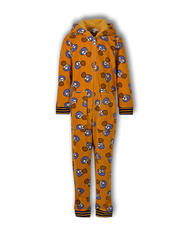 Woody Meisjes-Dames onesie, oker dodo all-over print