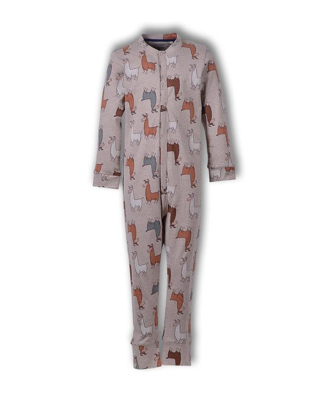 Woody Unisex onesie, beige alpaca all-over print