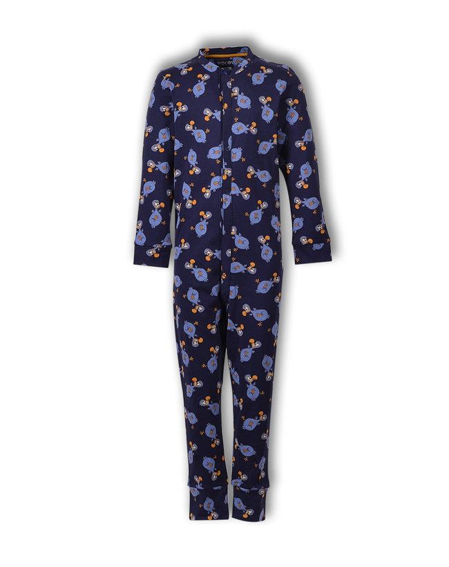 Woody Unisex onesie, donkerblauw dodo all-over print