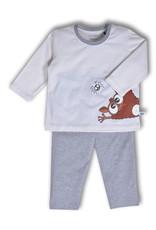 Woody Jongens pyjama, gebroken wit