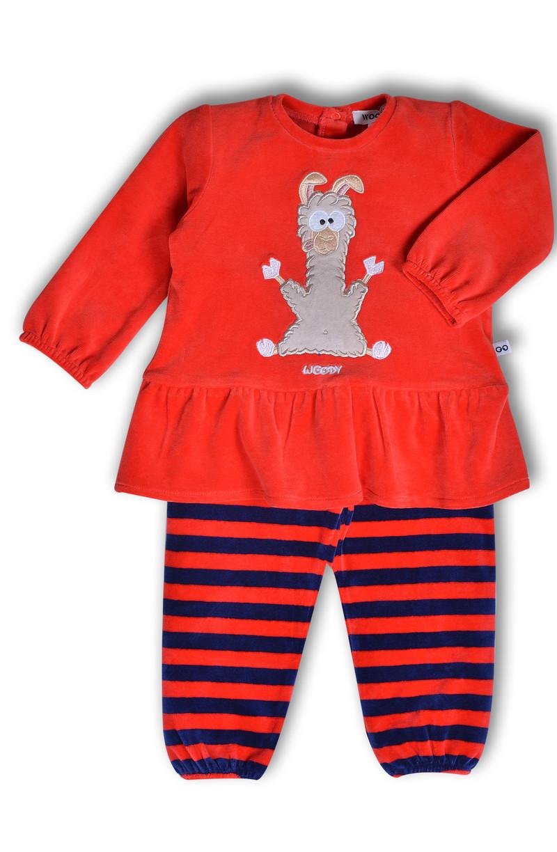 Woody Meisjes pyjama, tomatenrood