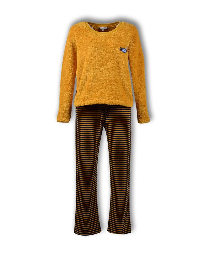 Woody Meisjes-Dames pyjama, oker geel