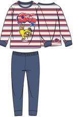 Woody Jongens-Heren pyjama, rood-blauw gestreept