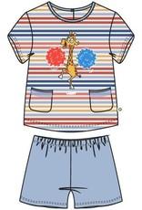 Woody Meisjes pyjama, veelkleurig  gestreept