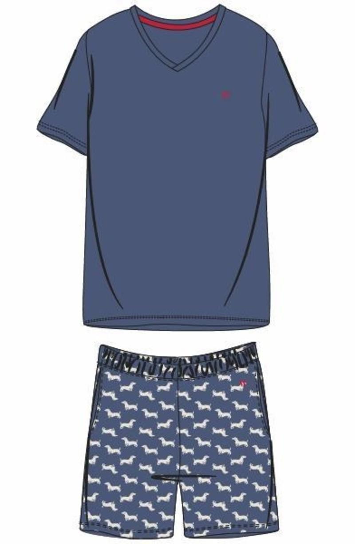 Woody Heren pyjama, Marineblauw