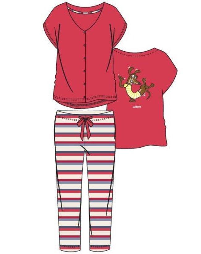 Dames pyjama, rood