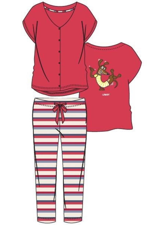 Woody Dames pyjama, rood