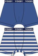Woody Jongens short, duo koningsblauw + streep