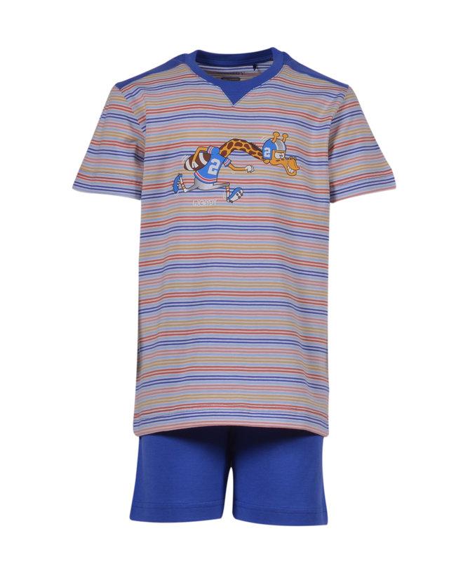 Woody Jongens-Heren pyjama, veelkleurig  gestreept