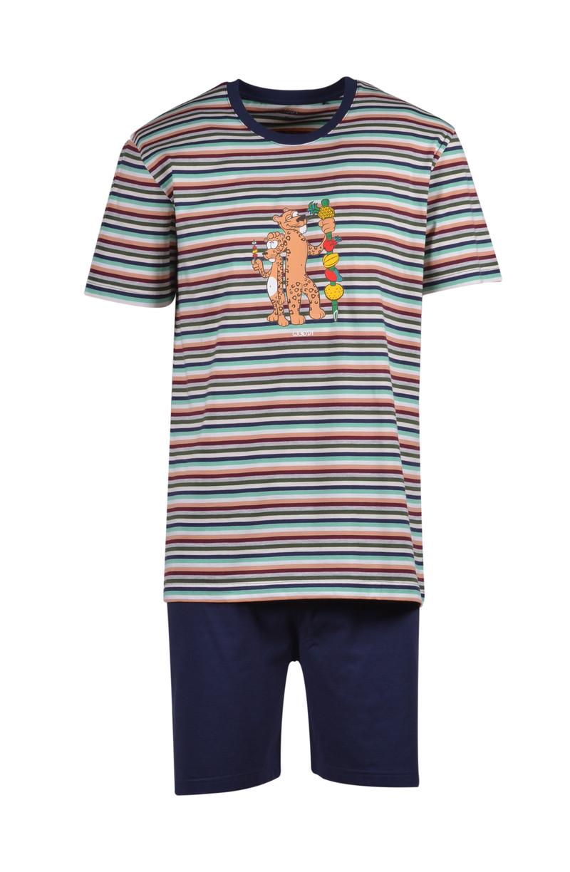 Woody Jongens-Heren pyjama, jungle gestreept