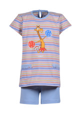 Woody Meisjes-Dames pyjama, veelkleurig  gestreept