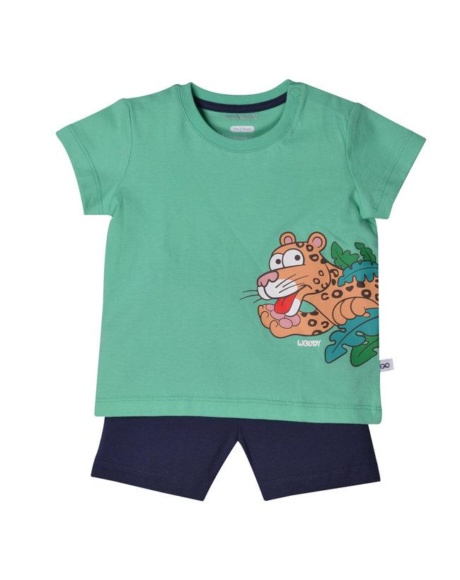 Woody Unisex pyjama, jadegroen