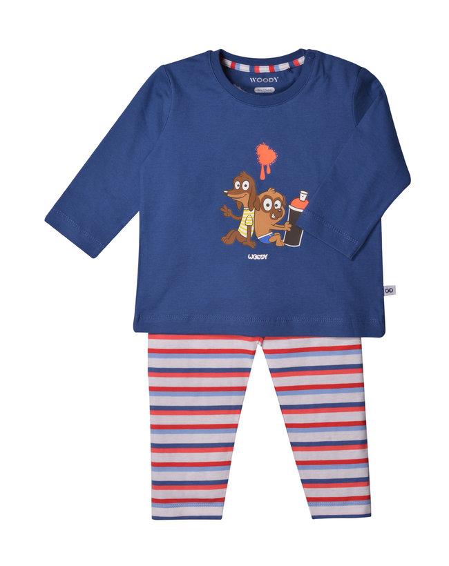 Woody Unisex pyjama, marineblauw