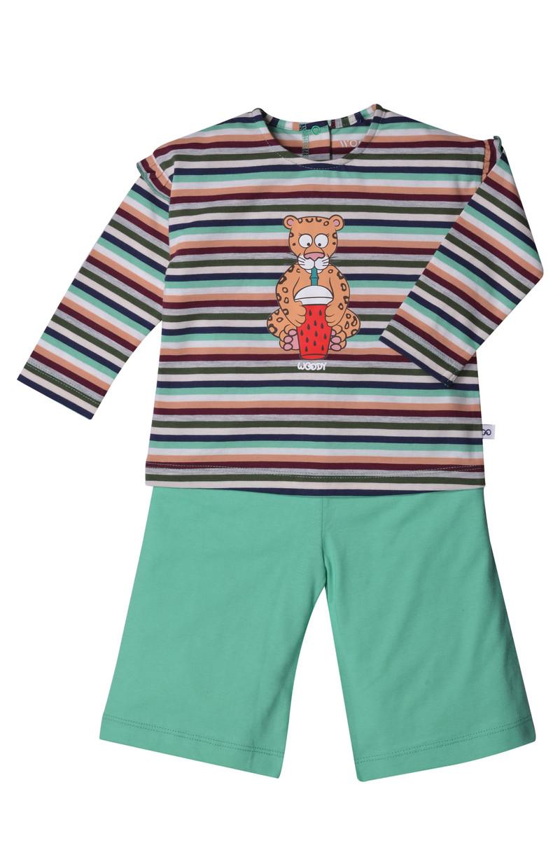 Woody Meisjes pyjama, jungle gestreept